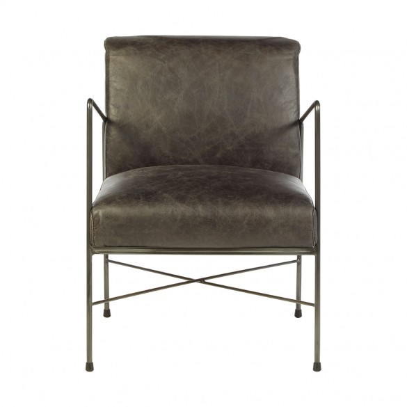 Hoxton Dining Chair-Ebony Leather