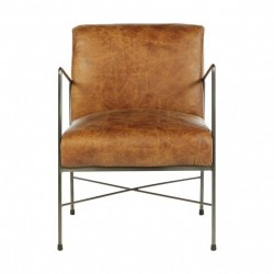 Hoxton Dining Chair-Light Brown Leather