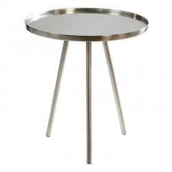 Corra Side Table- Matte Nickel Finish