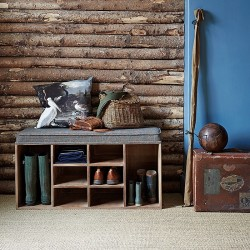 Shoes Storage Bench with Cushion (Tweed)