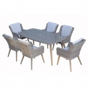 Danielle 6 Seat Rectangular Dining Set