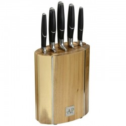 Arthur Price 5 Piece Oval Wooden Knife Block Set