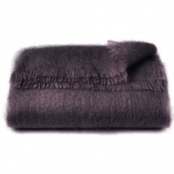 Mohair Throw - Plum