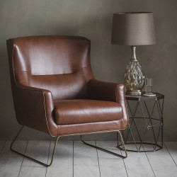 Camberley Lounge Chair Matt Saddle
