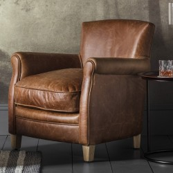 Mr. Paddington Chair Vintage Brown Leather