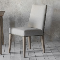 Rex Dining Chair Cement Linen (2pk)