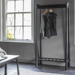 Wycombe Open Wardrobe Black