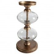 Chakra Bubble Candle Holder Gold 130x130x255mm