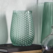 Emerald Hurricane Vase Green Glass 200x150mm (4pk)