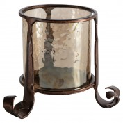 Lyric Brown Lustre Lantern Copper 150x150x120mm