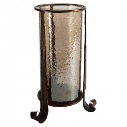 Lyric Brown Lustre Lantern Copper 190x190x300mm