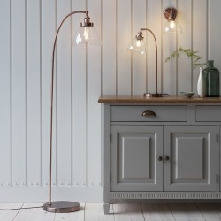 Hansen Floor Lamp Aged Copper