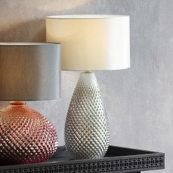 Livia Table Lamp Silver Mercury