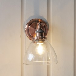 Hansen Wall Light Aged Copper