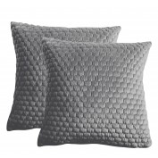 Honeycomb Cushion Silver 450x450mm (2pk)