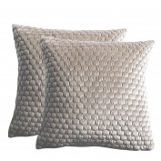 Honeycomb Cushion Taupe (2pk)