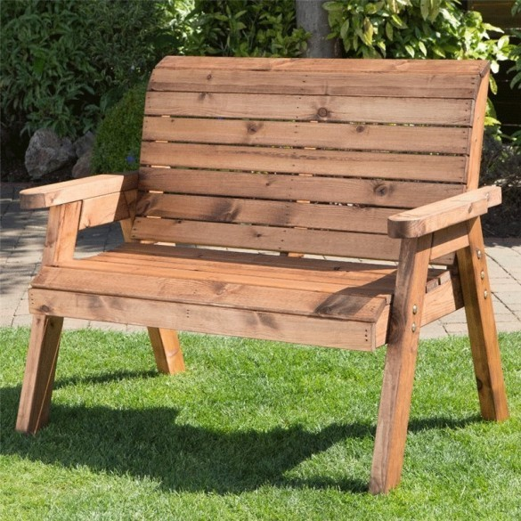 Charles Taylor Classic Garden Bench - 2 Seater - Fully Assembled