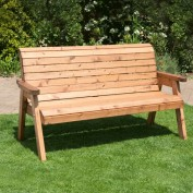 Charles Taylor Classic Garden Bench - 3 Seater - Fully Assembled