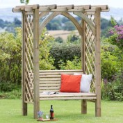Burford Pergola and Seat & Back Pad Package