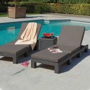 Daytona Sunloungers with Ice Cube-Graphite