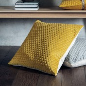 Honeycomb Cushion Ochre