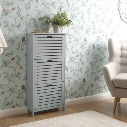 Bergen Three Tier Shoe Cabinet Grey