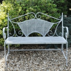 Windemere Metal Garden Bench