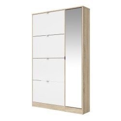 Brighton Large Shoe Cabinet 1 Door with Mirror