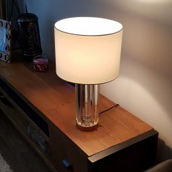 Charles French Gold Glass Table Lamp