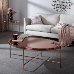 Taurus Coffee Table (Rose Gold)