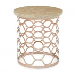 Ophelia Lamp Table (Rose Gold)