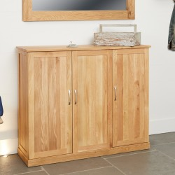 Mobel Oak Extra Large Shoe Cupboard