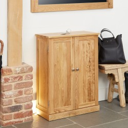 Mobel Small Oak Shoe Cupboard