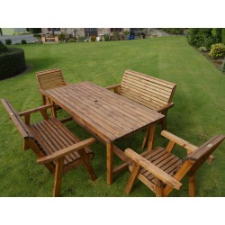 Dales 1.8m Rectangular Garden Table Sets With Benches