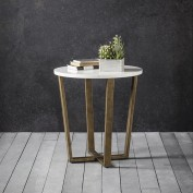 Cleo Round Side Table - Marble