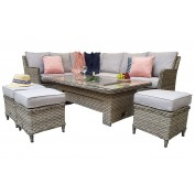 Marbella Corner Dining Sofa With Lift & Rise Table And Ice Bucket