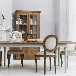 Maison Extending Dining Table - Cool Grey