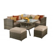Compact Corner Dining Set With Benches