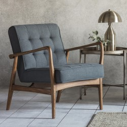 Humber Armchair Dark Grey Linen