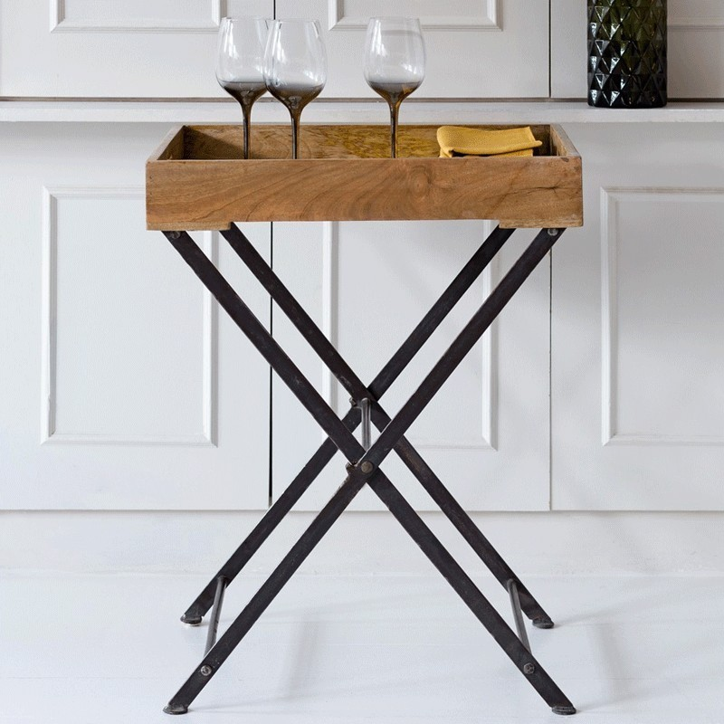 Wooden Mango Wood Tray Table Alison At Home