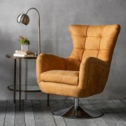 Bristol Swivel Chair - Saddle Tan