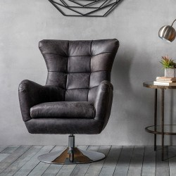 Bristol Swivel Chair - Antique Ebony