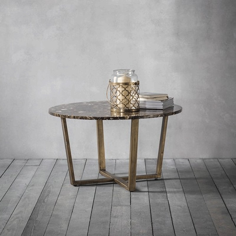 Emperor Round Coffee Table Marble Alison At Home