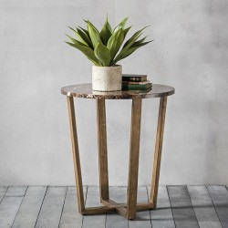 Emperor Round Side Table - Marble