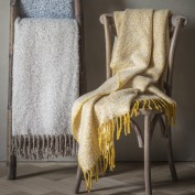 Herringbone Faux Mohair Throw