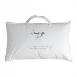 White Goose Feather & Down Pillow 480x740mm