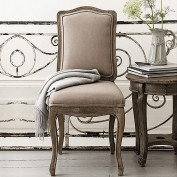 Pair of Avignon French Dining Chairs - Putty