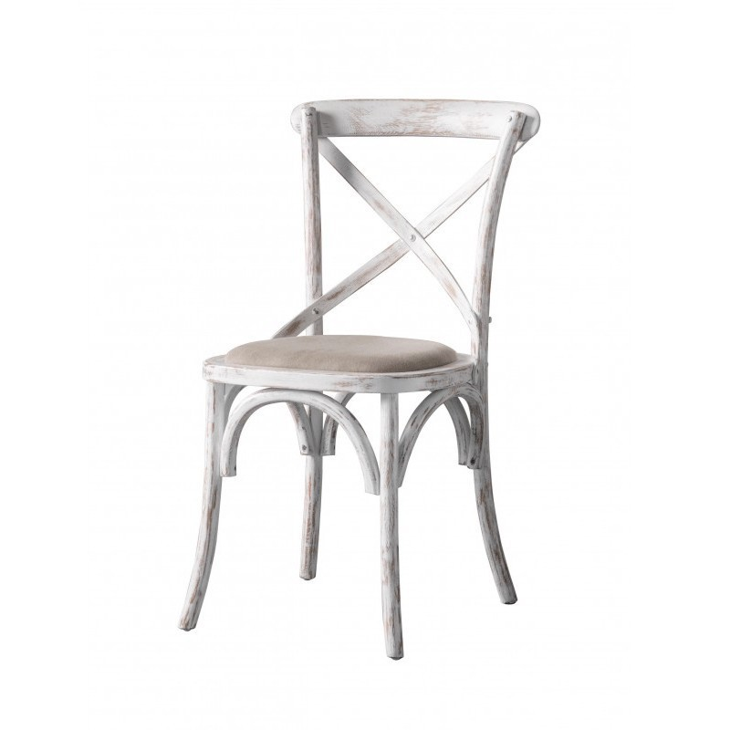 Caf 233 French Dining Chairs White Pair Alison At Home