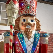 Multi Coloured LED Drumming Nutcracker-5ft
