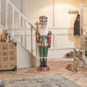 Nickolas the 6.5ft Warm White LED Santa Nutcracker